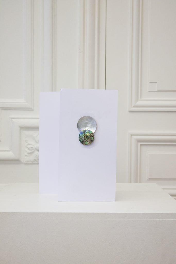 Double Sphere Earring green Abelone