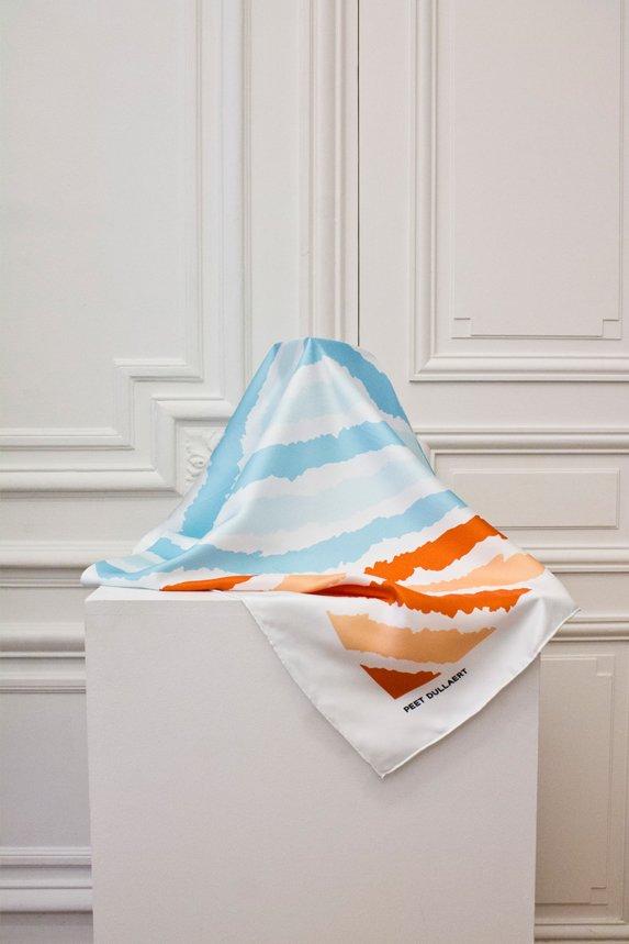 scarf orange blue