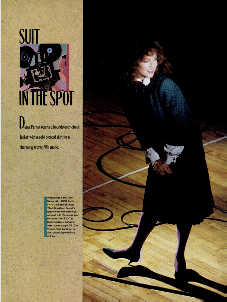1982 DP in New Yorker by Anna Wintour Choices for the 80's 1