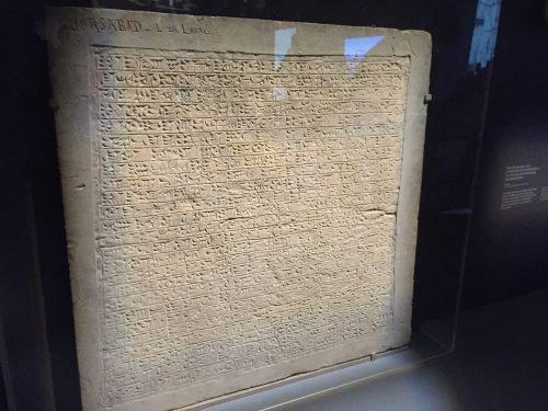 Mounding of an inscription in Khorsabad