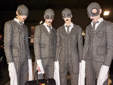 Thom Browne backstage by Sonny Vandevelde