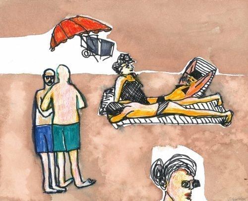 Sun Bathers at Saint Lunaire