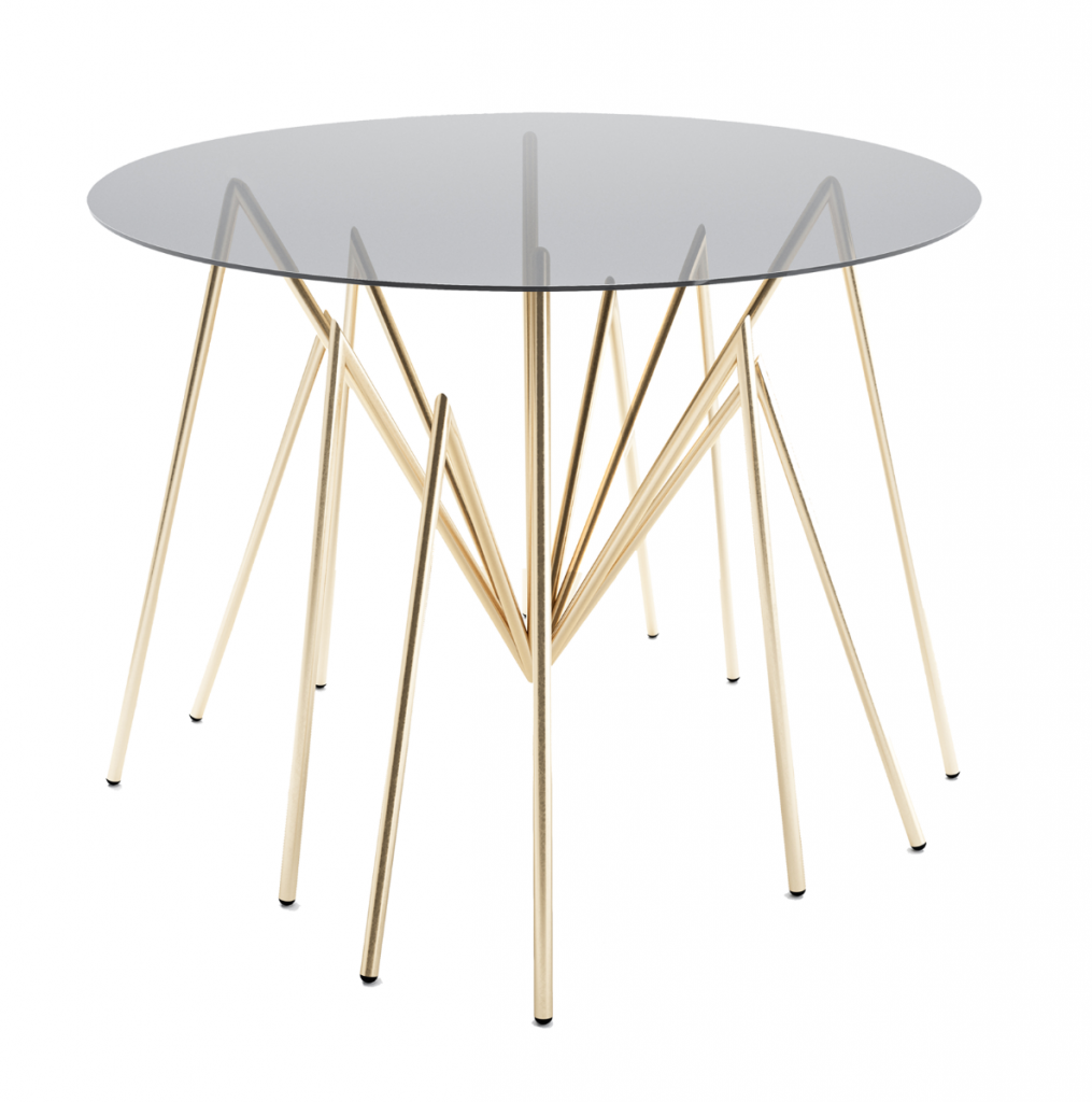 spider table gold plated