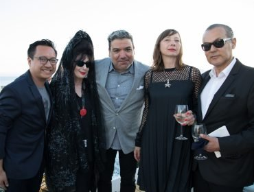 ASVOFF edition Cannes with friends David Ninh, Eugene Hernandez, Geraldine Postel and Marco de Rivera photo by Guillaume Collet