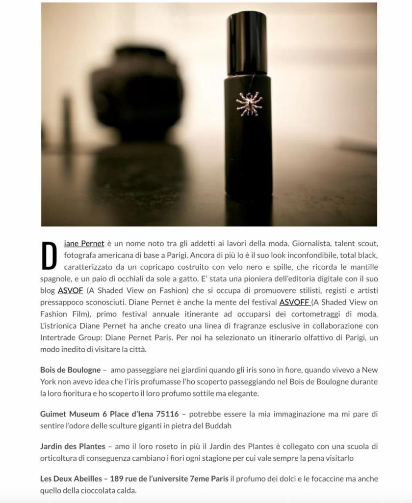 Diane Pernet Paris perfume collection in Beauty Scenario