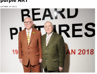 "Gilbert & George ""The Beard"" at  Galerie Thaddaeus Ropac, Pantin"