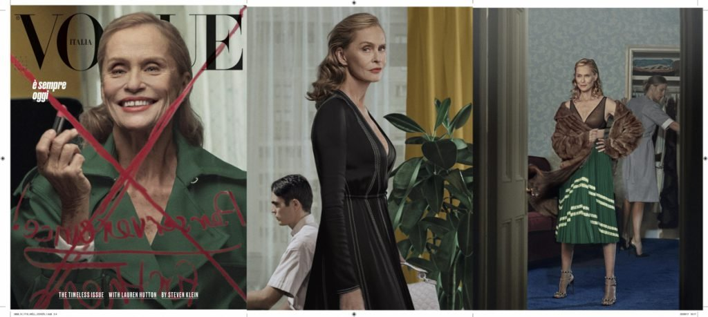Vogue Italia October cover for DPP perfume article