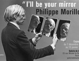 Andy Warhol with three mirrors 1977