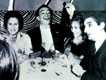 Salvador Dali, Gala & Beniamino Levi, dans les années 70. Archives Personnelles de M. Levi