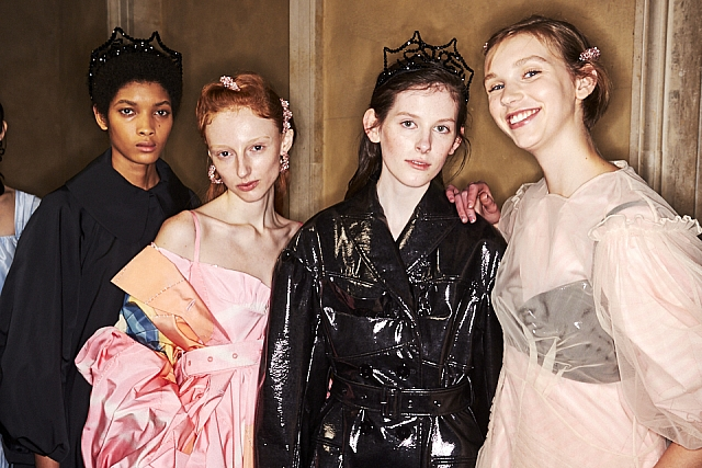 Backstage with Sonny Vandevelde at Simone Rocha
